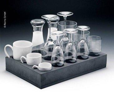 Universele glazen en bekerhouders